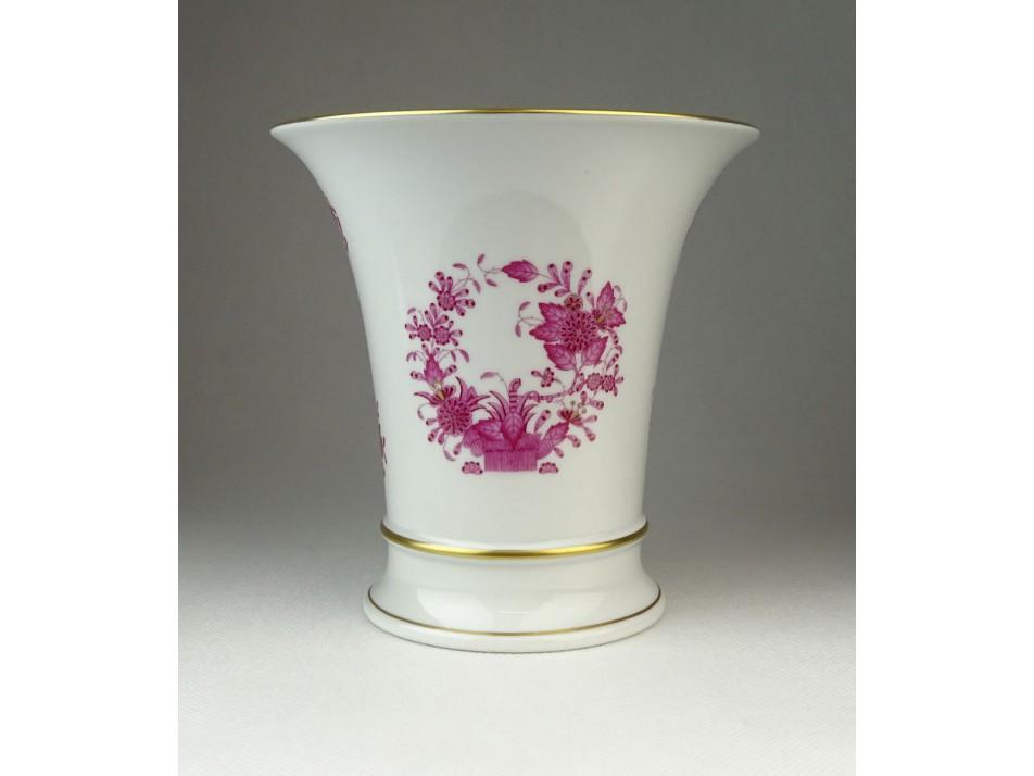 Lila indiai kosaras Herendi porcelán váza . 9d04163494