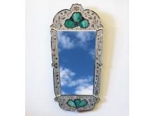 Gyönyörű antik velencei tükör 54 x 112 cm