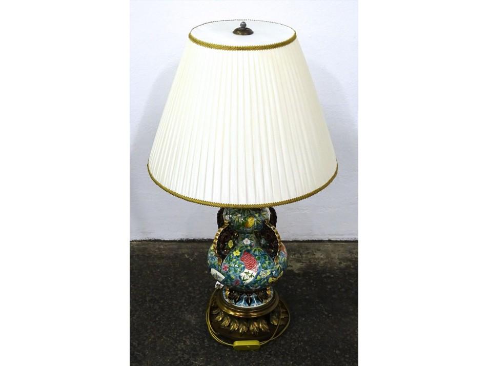 Hatalmas majolika Fischer lámpa 83 cm