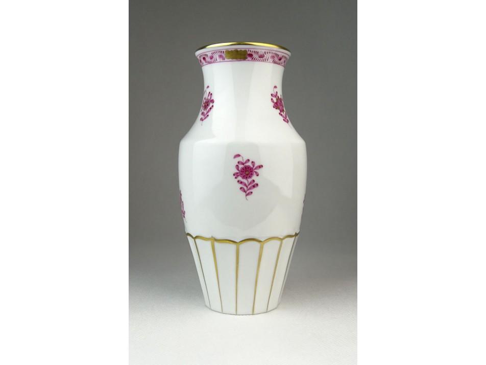 Indiai kosaras Herendi porcelán váza 19.5 cm . 6677f6d59f