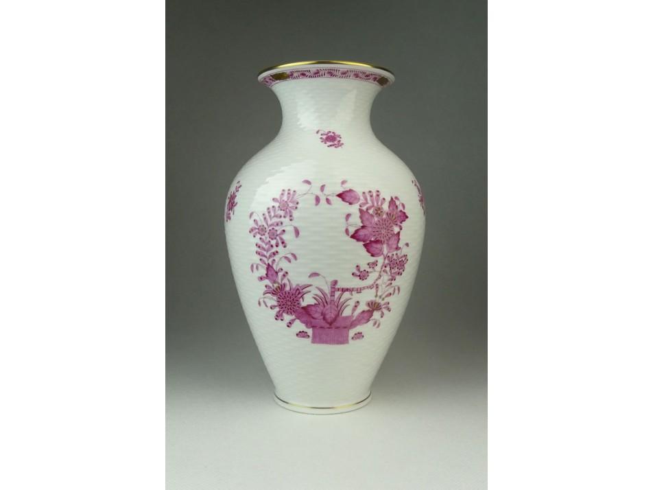 Indiai kosaras Herendi porcelán váza 23.5 cm . b6ba3203df